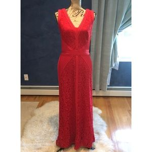 Tadashi Shoji Lace Red Dress